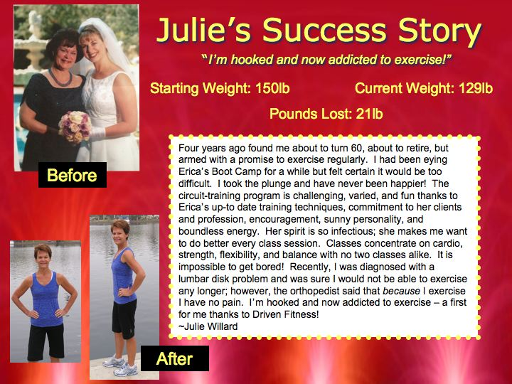 Julie's Success Story